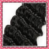 Malaysian riccio Human Hair Weave Deep Curly 16inches