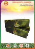 Papel que fuma con las extremidades de filtro (verde)