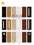 Porte stratifiée par chambre à coucher respectueuse de l'environnement imperméable à l'eau de salle de bains (KM-02)
