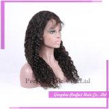 Парик шнурка естественных человеческих волос париков Brown типа длинних полный с волосами младенца
