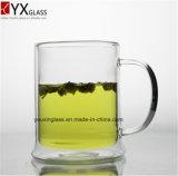 Tazza di birra di vetro doppia di vetro bevente della tazza/Borosilicate del grande volume/cristalleria termoresistente nuovo stile