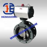 Ferro de molde de DIN/API/válvula de borboleta pneumática da flange ferro Ductile