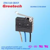 CQC, cUL, UL, ENEC одобрило загерметизированный миниый микро- переключатель 3A 125/250VAC 30VDC