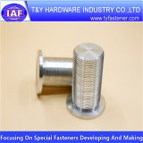 Peça de alumínio do CNC do prendedor brilhante da alta qualidade