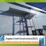 Almacén ligero galvanizado de la estructura de acero del panel de emparedado