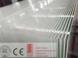 glace peinte blanche de 4-6mm avec le dos Cati/Catii de vinyle utilisé pour la porte coulissante