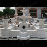 Fontaine de marbre Mf-1007 de calcium d'antiquité de fontaine de granit de fontaine de pierre de fontaine