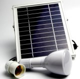 Tocha solar da lâmpada do bulbo do diodo emissor de luz com luz do cair