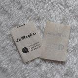 Natürliche Sahnebaumwollmaterieller Kleid-Kennsatz-Entwurf