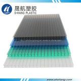 Scheda di plastica glassata del poli carbonato della Gemellare-Parete con protezione UV