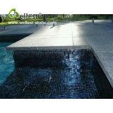 Mattonelle facenti fronte del bordo delle mattonelle della piscina nera naturale del basalto