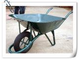 Brouette de plateau d'acier à outils de construction de l'Afrique Wb6400