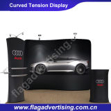 Messe Curved Werbung Backdrops Spannungs-Gewebe-Anzeige
