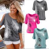 Maglietta delle donne casuali stampate migliore di vendita di disegno di modo estate
