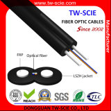 Cable óptico de fibra del cable de gota de la envoltura FTTH de LSZH/2 bases con FRP autosuficiente