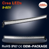 50 doppia barra chiara di riga LED di pollice 288W per il camion