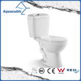 Toilette en céramique de cabinet en deux pièces de Siphonic de salle de bains (AT3020)
