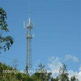 Tour de télécommunication de signal de fer de cornière de 4 pattes