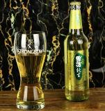 Customeriedのロゴの手の打撃のPilsnerビールガラス