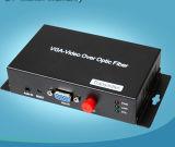El VGA-Vídeo sobre fibra óptica transmite el convertidor del VGA Videovga