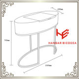 Hotel-Möbel-Tee-Tisch-moderner Möbel-Edelstahl-Möbel-Ausgangsmöbel-Tisch-Kaffeetisch-Tisch- für Systemkonsoleseiten-Tisch der Frisierkommode-(RS161701)
