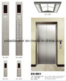 Passageiro Elevator com Etching Stainless Steel Car Cabin