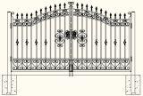 Puertas decorativas de la entrada de la seguridad del hierro labrado de la buena calidad