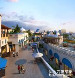 Het 3D Architecturale Teruggeven van het openbaar gebouw