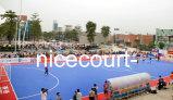 Het openlucht Hof van de Sport van het Blad van de Bevloering van Sporten Draagbare Openlucht, Plastic Bevloering (Gouden Zilveren Brons Nicecourt-)