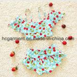 Bikini della stampa della ciliegia della neonata, pannello esterno bello di nuoto