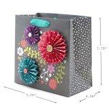 بشكل جميل يحبك هبة يتلقّى حقيبة خاصّ بالأزهار تلألؤ تصميم, ورقيّة هبة حقيبة, يتسوّق [ببر بغ]