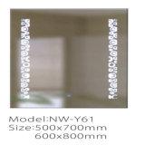 Nuevo espejo de plata ligero montado en la pared moderno LED del cuarto de baño