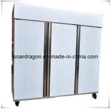 食糧記憶(D1.0L4D)のための4つのドアのステンレス鋼の台所冷却装置