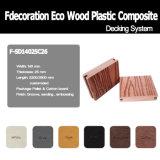 Decking compuesto plástico de madera del suelo al aire libre de Eco WPC
