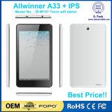 Tablette androïde d'Allwinner de 7 pouces et tablette des enfants