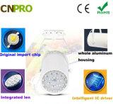 Weiße schwarze Spur-Beleuchtung-Schienen-Lampe des Gehäuse-12W LED