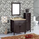 PVC du genre américain de Floor Standing Bathroom Furniture avec Mirror