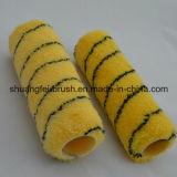 18mmの山の黄色の黒の縞のアクリルのペンキローラーのブラシ