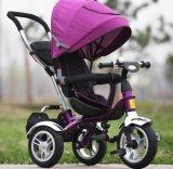 EVA dreht Kind-Dreiradkind-Metalldreirad mit rückseitigem Rest (OKM-1173)
