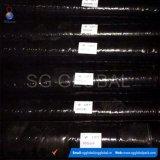 Tissu noir d'horizontal du polypropylène 90GSM tissé par pp de Wholeslae