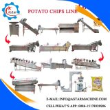 microplaquetas de batata 100/150/260/400kg/H automáticas cheias que fazem a linha