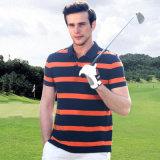 Людей пригонки рубашки пола хлопка рубашка пола гольфа нашивки сухих