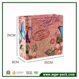 Reciclar la bolsa de papel elegante de encargo de las compras de la impresión de la insignia