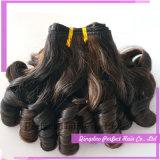 Mola de trama brasileira do cabelo humano de Remy do cabelo do Virgin Curly