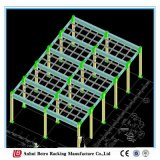 Поднятые платформы хранения, пудрят Coated мезонин и платформу пакгауза полки фабрики