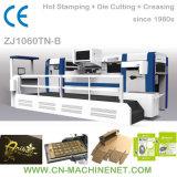 Zj1060tnb de Automatische Hete Stempelmachine van de Folie met het Knipsel van de Matrijs