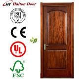 Porte d'acajou classique de bois de construction en bois solide/porte en bois de bois de construction/porte en bois de bois de construction