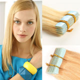 Invisible Double Drawn Ombre Remy Cheap Curly Tape Hair Extensions