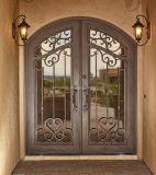 Portas de entrada clássicas Hand-Crafted impressionantes do ferro feito do estilo para a casa de campo