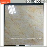 Peinture numérique de qualité supérieure de 3-19 mm / sérigraphie / gravure acide / givré / motif plat / bient trempé / verre trempé pour mur / plancher / partition avec SGCC / Ce & CCC & ISO